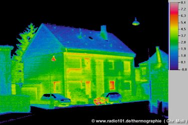 thermography: thermal imaging house photos (click to enlarge)