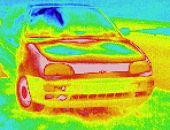 thermographic image: VW Golf car