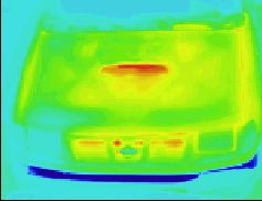Thermographic picture - infrared photograph: off-road vehicle