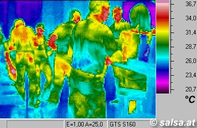 salsa dancers (Thermography / thermal picture)